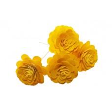 Montirano cvetje VRTNICA velika, rumena, 15 kosov