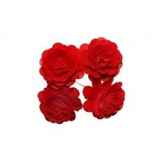 Montirano cvetje VRTNICA velika, rdeča, 15 kosov