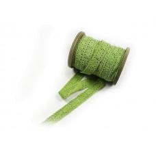 Trak čipka, zelena, 1,5 cm,  10 m