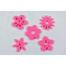 Filc cvetovi mešano, pink, 3 cm, 50 kosov
