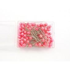 Igle s perlami, oranž, 8 mm, 100 kosov