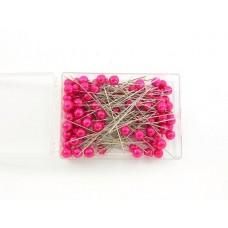 Igle s perlami, rdeče, 8 mm, 100 kosov