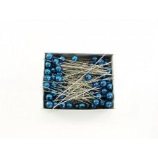 Igle s perlami, modre, 8mm, 100 ko