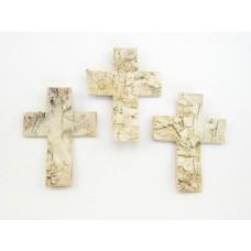 Križi iz breze, 8cm, natur, 30 kosov