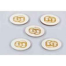 Leseni prstani oval, natur, 3x2cm, 40 kosov