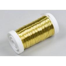 Žica dekor., zlata, kolut 100 g
