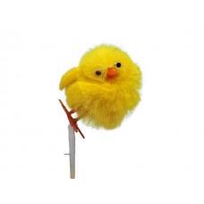 Piščanci na palčki, rumeni, 3,5 cm, 36 kosov