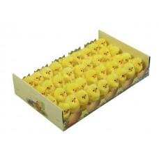 Piščanci pliš, rumeni, 4,5 cm, 36 kosov