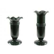 Nagrobna vaza VARIO, t. zelena, 27-37 cm