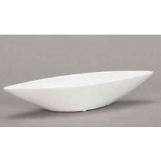Posoda ladjica, bela, 40 x 8  x V 6 cm