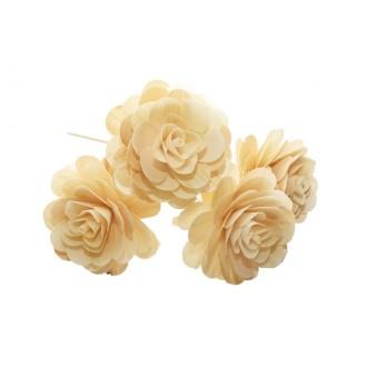 Montirano cvetje VRTNICA velika, natur, 15 kosov