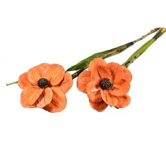 Montirani cvetovi Deco, oranž, 2 kosa