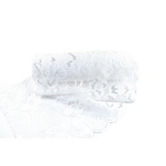 Trak Čipka, bela, 18 cm, 5 m