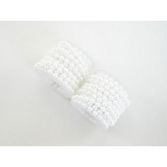Vrvica iz perl, bela, 6 kosov x 200cm