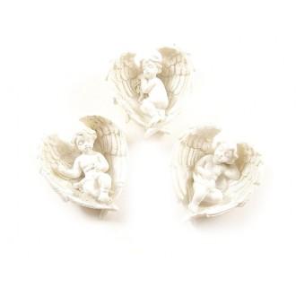 Angelčki na perutnicah iz um. mase, 5,5cm, 15 kosov
