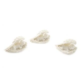 Angelčki na perutnicah ležeči, 5,5 cm,  8 kosov