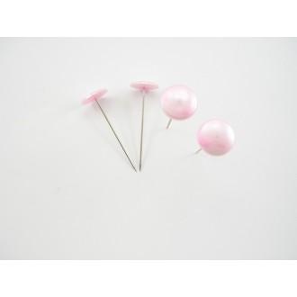 Igle z gumbi, pink, 20mm, 50 kosov