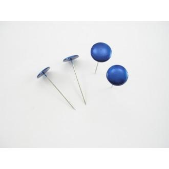 Igle z gumbi, modri, 20mm, 50 kosov