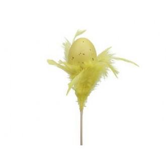 Jajca s perjem na p., rumena, 5 cm, 12 kosov