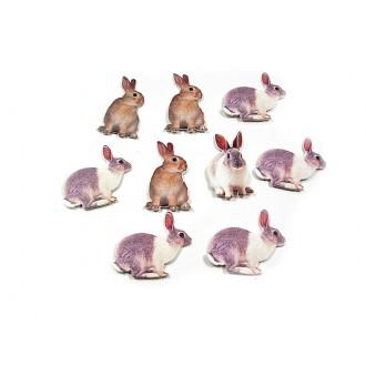 Leseni zajčki, 5 cm, 48 kosov