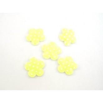 Rožice samolepilne, rumene, 4 cm, 36 kosov