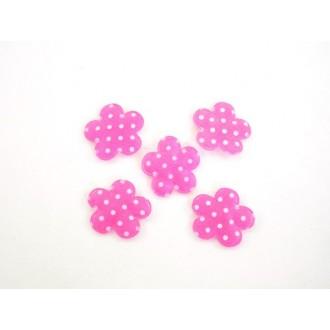 Rožice samolepilne, pink, 4 cm, 36 kosov
