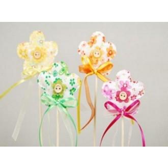Rože iz blaga na p., pisane, 6 cm, 12 kosov