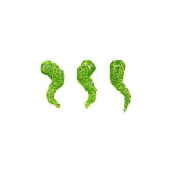 Tulci - žica, zeleni, 2,5x9cm, 8 kosov