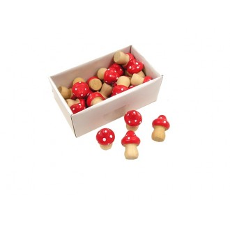 MUšnice iz lesa, rdeče, 2 x 2,5 cm