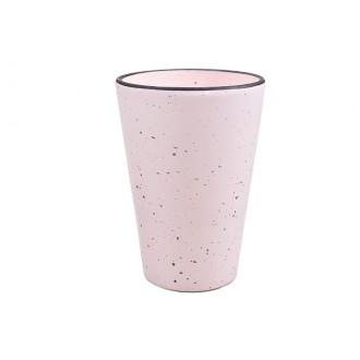 Vaza HT dots GL, sv. roza, fi 13,5 x V 19 cm